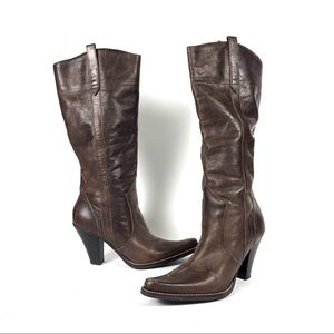 Steve Madden Speciall leather western boots riding